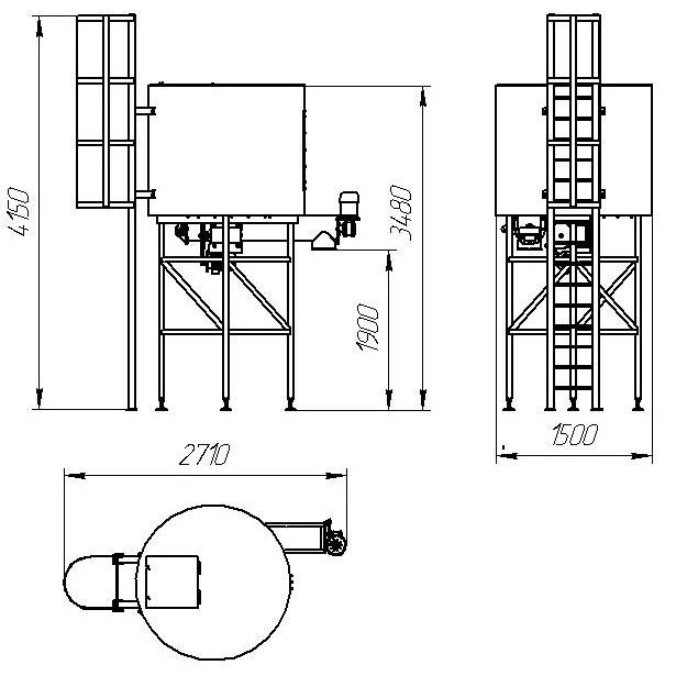 Бункер-накопитель V=3 куб.м.