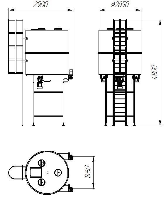 Бункер-накопитель V=6 куб.м.